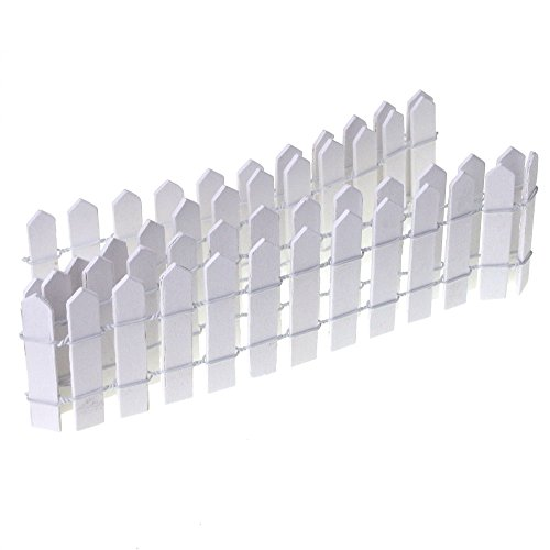 Homeford Miniature Wood Picket Fence, 36-Inch (White)