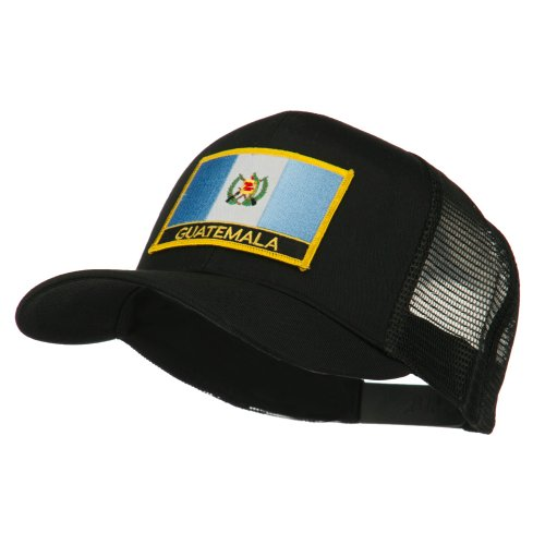 North and South America Flag Letter Patched Mesh Cap - Guatemala OSFM Yellow