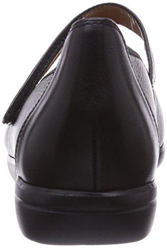 Ganter FRANZI, Weite F - Bailarinas de cuero para mujer gris - Grau (schwarz 0100)