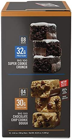 MET-Rx Big 100 Colossal Protein Bars, Healthy Meal Replacement Snack, Super Cookie Crunch and Chocolate Chip Cookie Dough Variety, 3.5oz bars (12 Count) 4