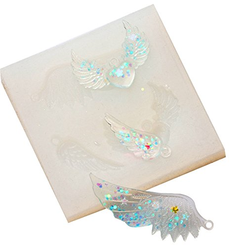 1PC Crystal Silicone Mold Angel Wings Pendant Necklace Jewelry Making Moulds DIY Resin Transparent Decorating Mould Craft