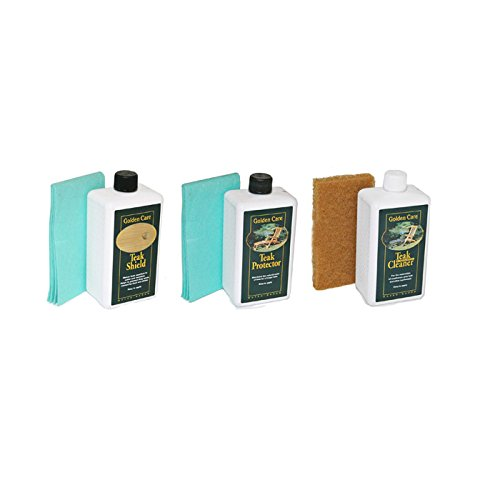 Golden Care Teak Cleaning 3 Pack Bundle