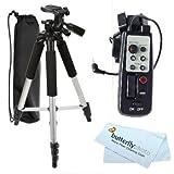 ButterflyPhoto 57 Inch TR60N Tripod + LANC Remote Control for HDR-CX520V HDR-XR500V HDR-CX100 HDR-CX500V HDR-XR200V HDR-XR100 DVD108 HC28 SR300 RM-1BP RM1BP