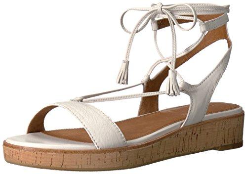 FRYE Women's Miranda Gladiator Platform Sandal, White, 8 M US