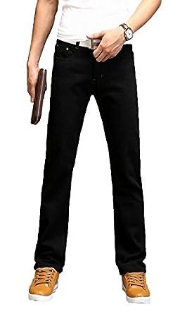 4bc9caff64d50c ... スキニー デニムパンツ ジーンズ 加工 メンズ パンツ ス ジーパン ズボン スリム テーパードシリーズ メンズ 多色 男性用  ジーパン(ブラック4XL) | ジーンズ 通販