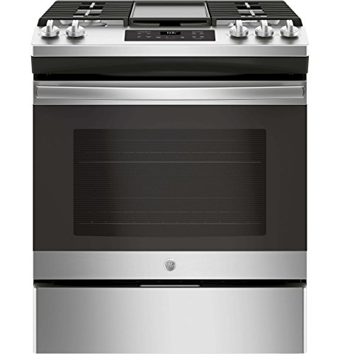 GE JGSS66SELSS 30 Inch Slide-in Gas Range with Sealed Burner Cooktop, 5.6 cu. ft. Primary Oven Capacity, in Stainless ()