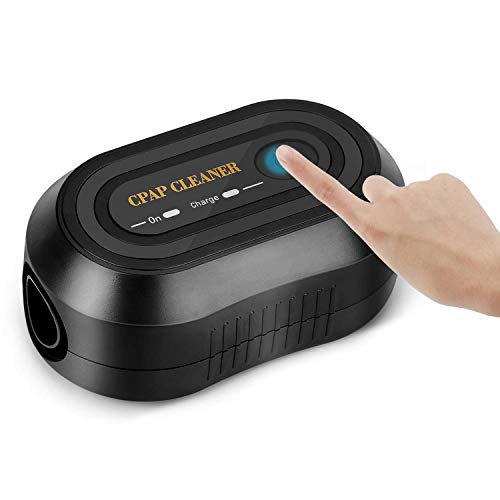 CPAP Cleaner and Sanitizer Cleaning Machine - JALIELL Portable Mini CPAP Mask Cleaner for CPAP Machine, Cushion & Tubing(Black)