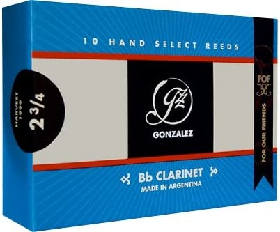 Gonzalez Classic Bb Clarinet Reeds Box of 10 Strength 3