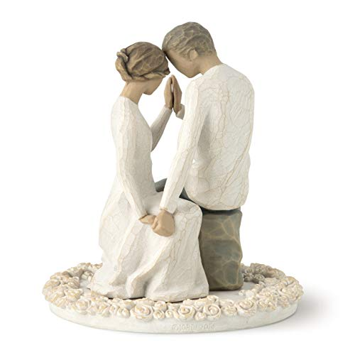 Willow Tree Around You, sculpted hand-painted cake topper ()