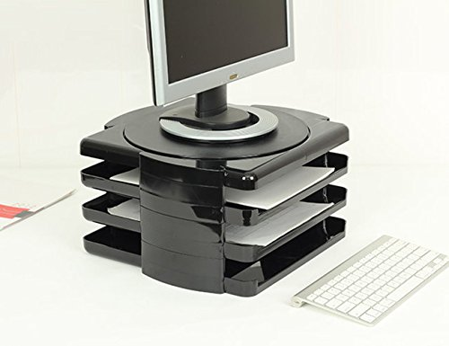 Lohome 174 Computer Monitor Riser 3 Tier Rotatable