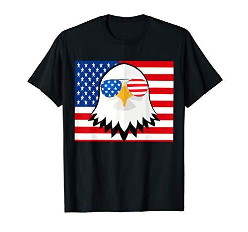 Eagle American Sunglasses T shirt 4th of July ()