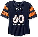 Ultra Game Women's NFL Penalty Box Jersey, Denver Broncos, Navy, X-Large