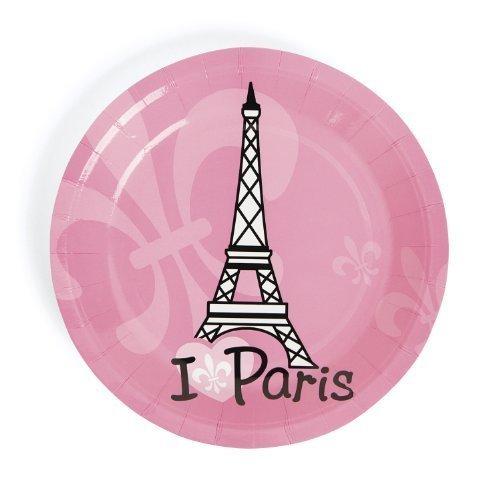 Perfectly Paris Dessert Plates (8 pc) by Fun Express - Paris Dessert Plate