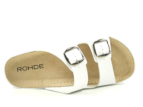 Riesa Rohde Rohde Blanc Blanc Femme Mules Femme Riesa Rohde Mules Femme Blanc Mules Riesa Rohde Riesa 04P08r