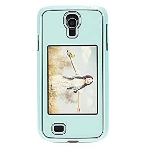Bkjhkjy Bling Shimmering Protective Hard Back Cover Case with Picture Showing Slot for Samsung Galaxy S4 I9500 (Green)