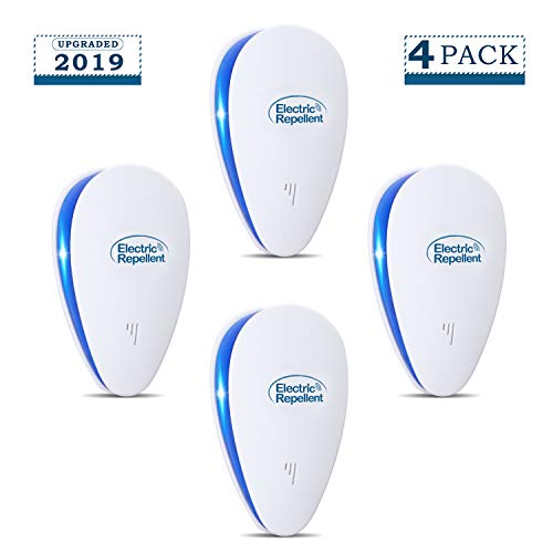 Highendberry Ultrasonic Pest Repeller, Electronic Pest Repellent Plug in for Pest Reject, Pest Defender Indoor Use for Bug Spider Ant Mice Roach Mosquitoes Other Insects (4 ()