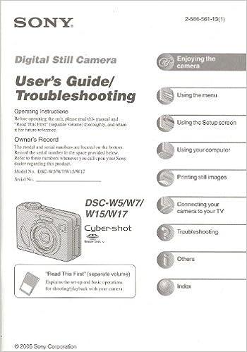 Sony cyber shot dsc h300 user guide.