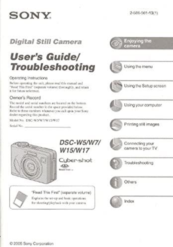 Sony Digital Still Camera Instruction Manual Browse Manual Guides