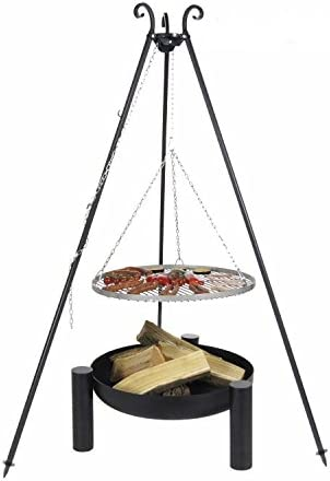 Schwenkgrill Dreibein Stahl 70cm inkl Feuerschale Detroit 80cm