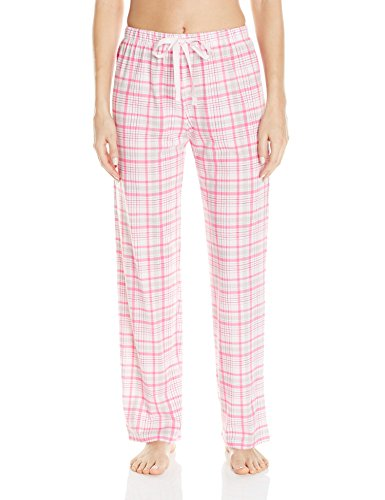 (Jockey Women's Printed Long Pant, Portia Plaid, Small)