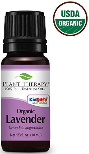 Plant Therapy USDA Certified Organic Lavender Essential Oil. 100% Pure, Undiluted, Therapeutic Grade. 10 ml (1/3 oz).