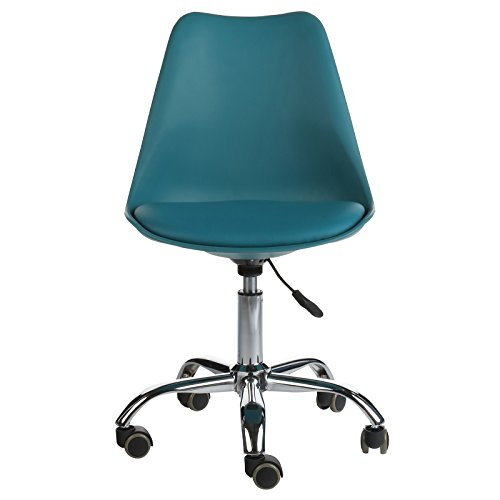 Charles Jacob Style Office Chair, Teal (Charles Desk Chair)