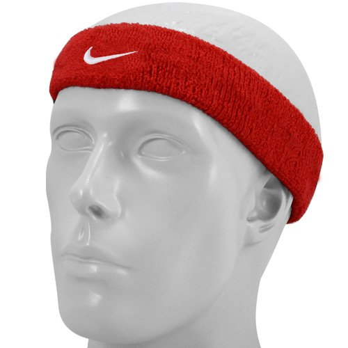Nike Swoosh Headband (Red, One Size) by Nike (Image #1)