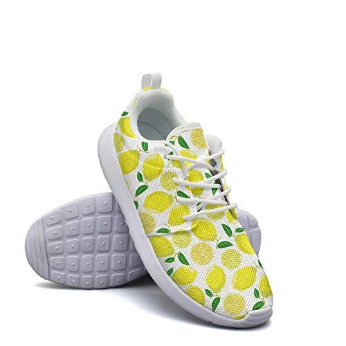 Baseball Peel Lemon (Casual Womens Lightweight Mesh Shoes The Lemon Pattern Sneakers Trail Running Soft Sole)