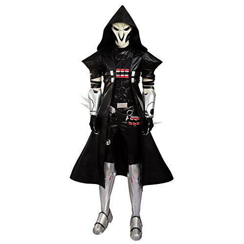 Overwatch Reaper Costume (Men's Coat Costume for Reaper Cosplay Custom Made Black)