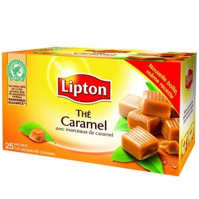 (Lipton Caramel Tea - Thé Caramel Lipton)
