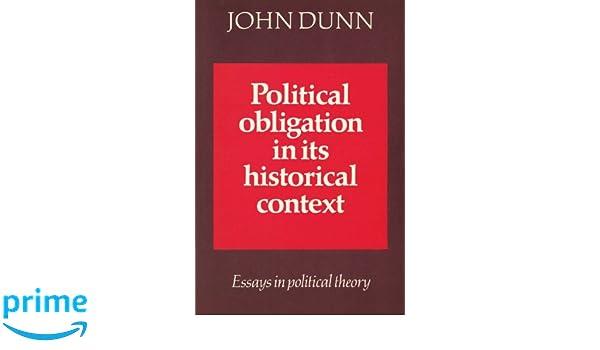 political obligation in its historical context dunn john