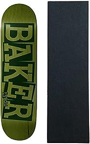 "Baker Skateboard Deck Peterson Ribbon 8.5"" x 32"" Green"