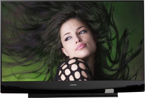 Mitsubishi WD-73737 73-Inch 1080p 120Hz Home Theater DLP HDTV (2009 Model) (Tv Mitsubishi Inch 60)