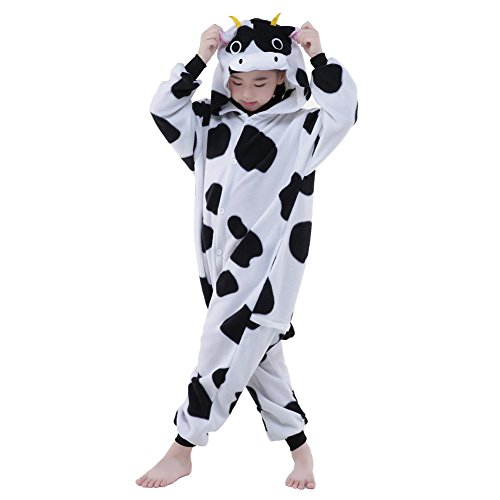 Pinkmerry Unisex Children Christmas Onesie Cow Pyjamas Costume (FBA) (Cow Costume For Kids)