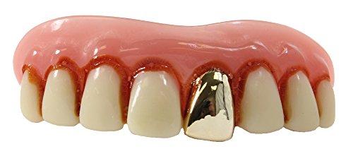 Full Grill Teeth (Billy Bob Teeth, Inc. Mens Full Grill Gold Teeth One Size Fits Most Off-White)