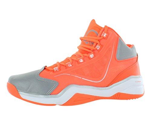 Reebok Men's Q96 Crossexamine Basketball Shoe,Neon Sign/White/Pure Silver/Neon Green,10.5 M US