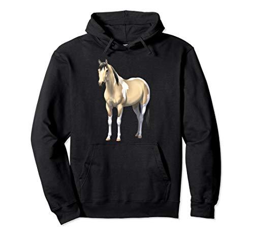 Buttermilk Buckskin Pinto Quarter Horse Paint Horse Pullover Hoodie ()
