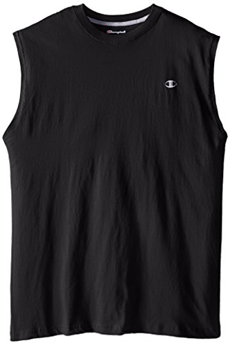 Champion Men's Big-Tall Jersey Muscle T-Shirt, Black, 3X/Tall ()