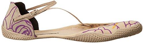Vibram Damen VI-S Fitness- und Yoga-Schuh Beige / Royal Purple