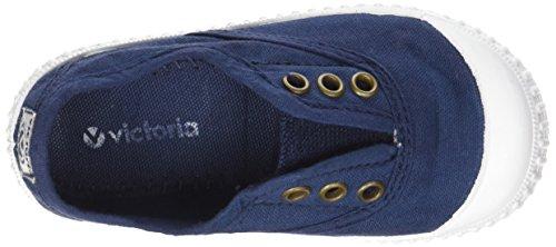 Victoria - Zapatillas de casa de tela para niños Marino