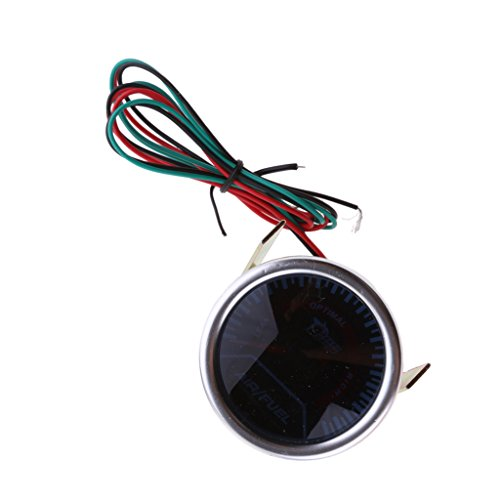 MonkeyJack Digital LED Air Fuel Ratio Gauge 52mm Diameter Universal for Cars (Digital Fuel Gauge)