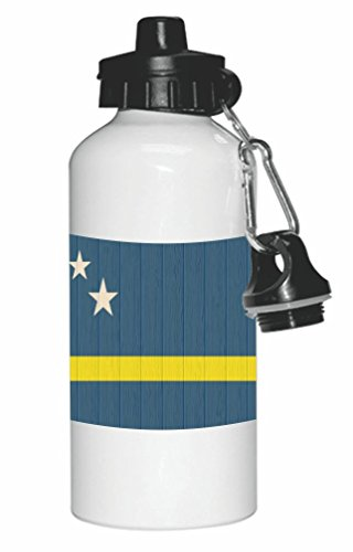 Rikki Knight Curaco Flag on Distressed Wood Design 20oz Sports Water Bottle (Dutch Liqueur)