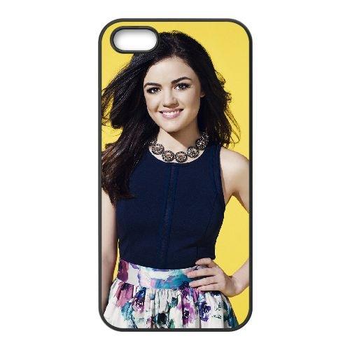 Lucy Hale Cute Smile Mobile1 coque iPhone 5 5S cellulaire cas coque de téléphone cas téléphone cellulaire noir couvercle EOKXLLNCD25653