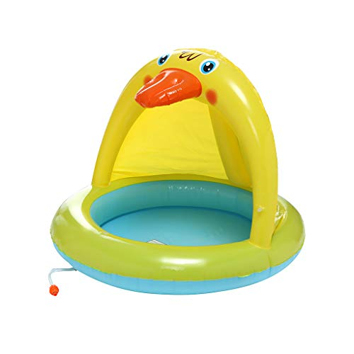 - Jiayit US Fast Shipment Child Spray Ring Baby Pool, Duckling Splash Pool with Canopy, Spray Pool of 40In, Water Sprinkler Yellow