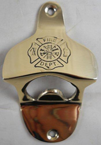 Solid Brass Wall Mounted Firefighters Bottle Opener