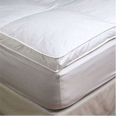 "2"" Full Goose Down Mattress Topper Featherbed / Feather Bed"