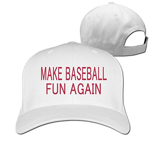 Embroidered Print Rugby (EIO-T Make Baseball Fun Again Baseball Snapback Cap White)