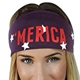 Product review for Hunputa Wide Headbands Fashion Elastic Letter Printed Head Wrap Stretchy Hairband for Makeup,Sports ,Yoga,Running