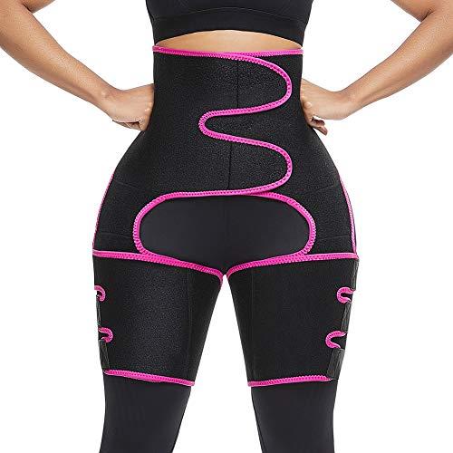 FeelinGirl Neoprene Sweat Waist Trainer and Thigh Trimmer Butt Lifter High Waist Thigh Slimmer Workout Body Belts…