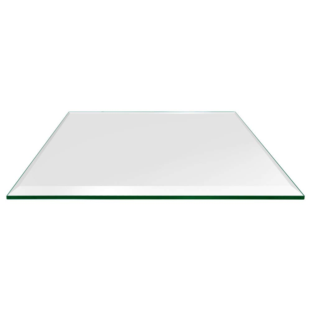 TroySys - 1/2'' Thick Square Glass Table Top (20'' x 20'') | USA Premier Glass Maker | High Strength Tempered Glass with Smooth Bevel Edge | Great Dining Table, Coffee Table or Outdoor Patio Table by TroySys
